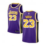 Maillot Los Angeles Lakers Nike NO.23 Anthony Davis Purpura 2019-20 Pas Cher