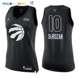 Maillot NBA Femme 2018 All Star NO.10 DeMar DeRozan Noir Pas Cher