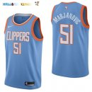 Maillot NBA Los Angeles Clippers NO.51 Boban Marjanovic Nike Bleu Ville 2017-2018 Pas Cher
