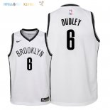 Maillot NBA Enfant Brooklyn Nets NO.6 Jared Dudley Blanc Association 2018 Pas Cher