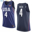 Maillot NBA 2016 USA Jimmy Butler NO.4 Bleu Pas Cher