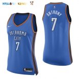 Maillot NBA Femme Oklahoma City Thunder NO.7 Carmelo Anthony Bleu Icon Pas Cher