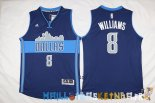 Maillot NBA Dallas Mavericks NO.8 Deron Michael Williams Bleu Profond Pas Cher