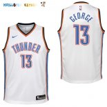 Maillot NBA Enfant Oklahoma City Thunder NO.13 Paul George Blanc Association Pas Cher
