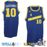 Maillot NBA Golden State Warriors NO.10 Anfernee Hardaway Retro Bleu Pas Cher