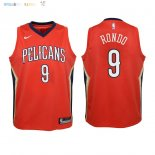 Maillot NBA Enfant New Orleans Pelicans NO.9 Rajon Rondo Rouge Statement 2018 Pas Cher