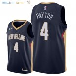Maillot NBA New Orleans Pelicans NO.4 Elfrid Payton Marine Icon 2018 Pas Cher
