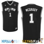 Maillot NBA San Antonio Spurs NO.1 Tracy McGrady Noir Pas Cher