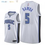 Maillot NBA Orlando Magic NO.5 Mohamed Bamba Blanc Association 2018 Pas Cher