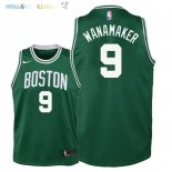 Maillot NBA Enfant Boston Celtics NO.9 Bradley Wanamaker Vert Icon 2018 Pas Cher