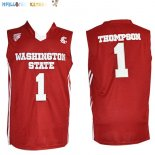 Maillot NCAA Washington State NO.1 Thompson Rouge Pas Cher