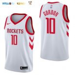 Maillot NBA Houston Rockets NO.10 Eric Gordon Blanc Association 2017-2018 Pas Cher