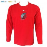 Maillot Portland Trail Blazers Manches Longues Rouge Pas Cher