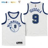 Maillot NBA Enfant Golden State Warriors NO.9 Andre Iguodala Nike Retro Blanc Pas Cher