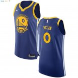 Maillot NBA Golden State Warriors NO.0 Patrick McCaw Bleu Icon 2017-2018 Pas Cher