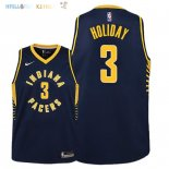 Maillot NBA Enfant Indiana Pacers NO.3 Aaron Holiday Marine Icon 2018-19 Pas Cher