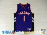 Maillot NBA Toronto Raptors NO.1 Tracy McGrady Bleu Pas Cher