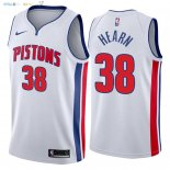 Maillot NBA Detroit Pistons NO.38 Reggie Hearn Blanc Association 2018 Pas Cher