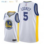 Maillot NBA Golden State Warriors NO.5 Kevon Loone Blanc Association 2018 Pas Cher
