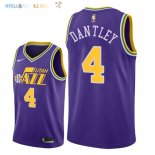 Maillot NBA Utah Jazz NO.4 Adrian Dantley Retro Pourpre 2018 Pas Cher