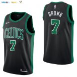 Maillot NBA Boston Celtics NO.7 Jaylen Brown Noir Statement 2017-2018 Pas Cher