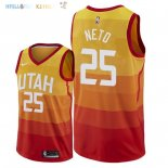Maillot NBA Utah Jazz NO.25 Raul Neto Nike Orange Ville 2018-2019 Pas Cher