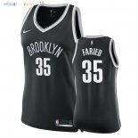 Maillot NBA Femme Brooklyn Nets NO.35 Kenneth Faried Noir Icon 2018 Pas Cher