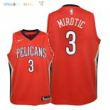 Maillot NBA Enfant New Orleans Pelicans NO.3 Nikola Mirotic Rouge Statement 2018 Pas Cher