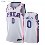 Maillot NBA Philadelphia Sixers NO.0 Justin Patton Blanc Association 2018 Pas Cher