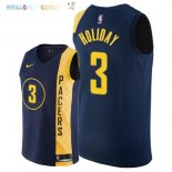 Maillot NBA Indiana Pacers NO.3 Aaron Holiday Nike Marine Ville 2018 Pas Cher