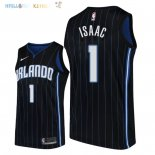 Maillot NBA Orlando Magic NO.1 Jonathan Isaac Noir Statement 2018 Pas Cher