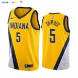 Maillot NBA Nike Indiana Pacers NO.5 Edmond Sumner Jaune Statement 2019-20