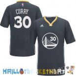 Maillot NBA Golden State Warriors Manche Courte NO.30 Stephen Curry Noir Pas Cher