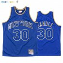 Maillot NBA CNY Throwback New York Knicks NO.30 Julius Randle Bleu 2020