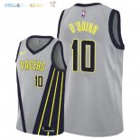 Maillot NBA Indiana Pacers NO.10 Kyle O'Quinn Nike Gris Ville 2018-2019 Pas Cher