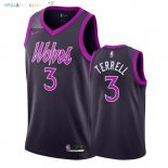 Maillot NBA Minnesota Timberwolves NO.3 Jared Terrell Nike Pourpre Ville 2018-2019 Pas Cher