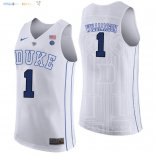 Maillot NCAA Duke NO.1 Zion Williamson Blanc Pas Cher