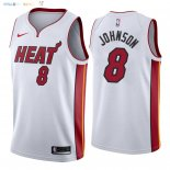 Maillot NBA Miami Heat NO.8 Tyler Johnson Blanc Association 2018 Pas Cher