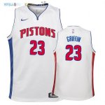 Maillot NBA Enfant Detroit Pistons NO.23 Blake Griffin Blanc Association 2017-2018 Pas Cher