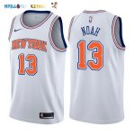 Maillot NBA New York Knicks NO.13 Joakim Noah Blanc Statement 2017-2018 Pas Cher