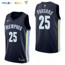 Maillot NBA Memphis Grizzlies NO.25 Chandler Parsons Marine Icon 2017-2018 Pas Cher
