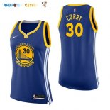 Maillot NBA Femme Golden State Warriors NO.30 Stephen Curry Bleu Icon Pas Cher