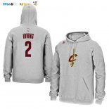 Hoodies NBA Cleveland Cavaliers NO.2 Kyrie Irving Gris Pas Cher