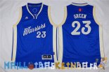 Maillot NBA Enfants 2015 Noël Golden State Warriors NO.23 Draymond Green Bleu Pas Cher