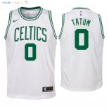 Maillot NBA Enfant Boston Celtics NO.0 Jayson Tatum Blanc Association 2018 Pas Cher