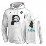 Hoodies NBA 2019 All Star Indiana Pacers NO.4 Victor Oladipo Blanc Pas Cher