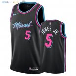 Maillot NBA Miami Heat NO.5 Derrick Jones Jr Nike Noir Ville 2018-2019 Pas Cher