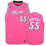 Maillot NBA Enfant Earned Edition Miami Heat NO.55 Duncan Robinson Rose 2018-19 Pas Cher