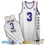 Maillot NBA 2015 All Star NO.3 Dwyane Wade Blanc Pas Cher