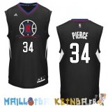 Maillot NBA L.A.Clippers NO.34 Paul Pierce Noir Pas Cher
